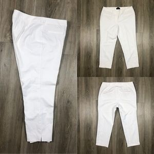Talbots Hampshire White Stretch Slim Pants Sz 18
